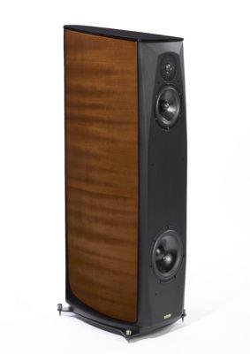Enceintes colonnes finition bois et cuir CALLAS DIVA (8590 €)